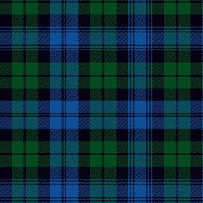 Black Watch tartan, modern bright