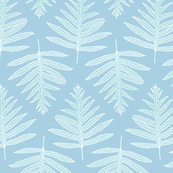 Faded Teal Laua'e Ferns
