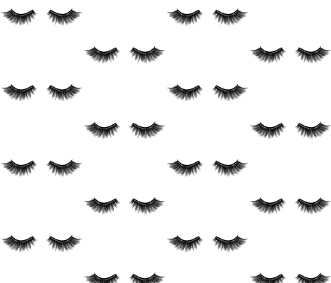 EyeLashes fabric by portage_and_main on Spoonflower - custom fabric