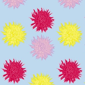 Dahlia Line Pattern in Blue