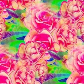 rose blossom watercolor