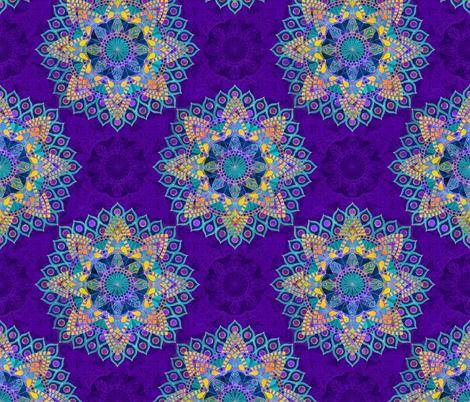 Peacock Mandala fabric by hettygraham on Spoonflower - custom fabric