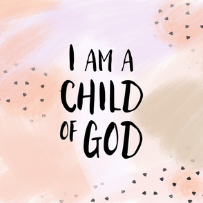 I am a child of God (1 yard) // peach