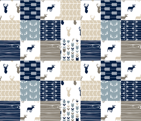 Rustic Woods Wholecloth Patchwork  fabric by littlearrowdesign on Spoonflower - custom fabric
