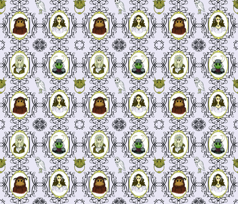 Labyrinth Cameo fabric by nimruse on Spoonflower - custom fabric