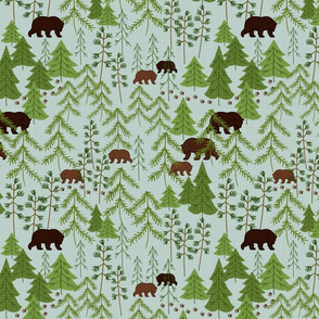 Bears In The Woods Larger Scale