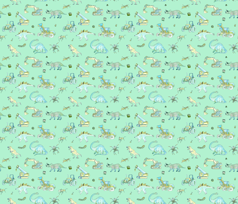 Little boys pattern small repeat turquoise background for Little boy fabric