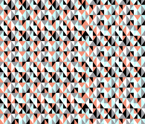 Multi-Colored Triangles fabric by kblack on Spoonflower - custom fabric