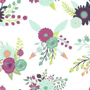 Plum Fall Floral