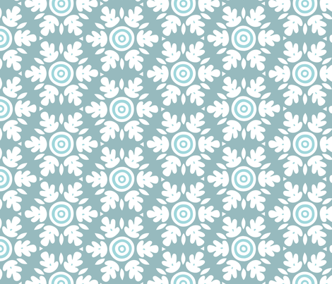 Floral On Target fabric by mariafaithgarcia on Spoonflower - custom fabric