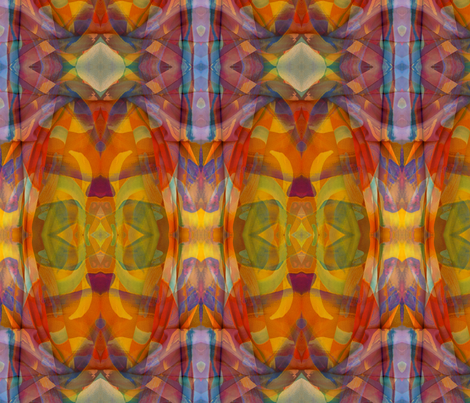 Golden Rainbow  fabric by ciswee on Spoonflower - custom fabric