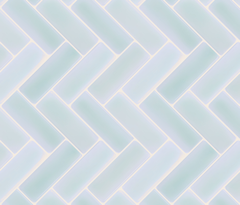 Light Blue Herringbone Tile Backsplash Fabric Gofigure