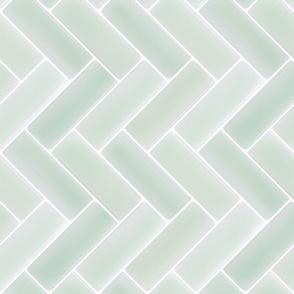 Grey Herringbone Tile Backsplash