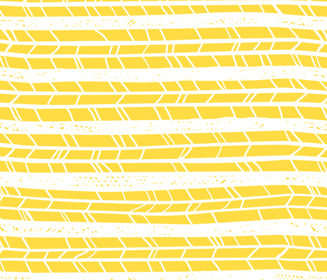 Yellow Horizontal Feathers fabric by dreammachineprints on Spoonflower - custom fabric