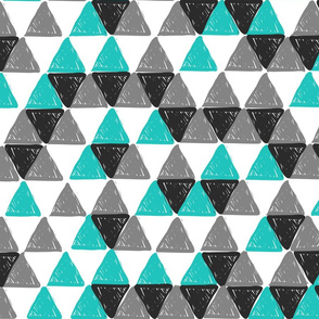 Grey and Aqua Triangles