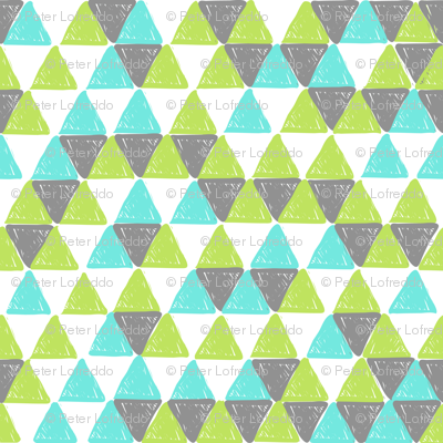 Grey and Green Triangles