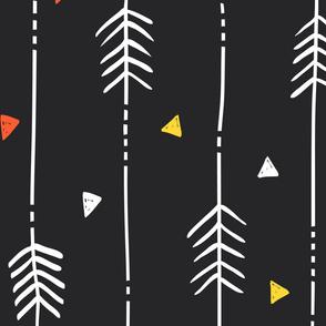 Large Black Arrows