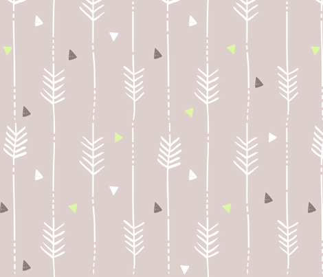 Rose Arrows fabric by dreammachineprints on Spoonflower - custom fabric