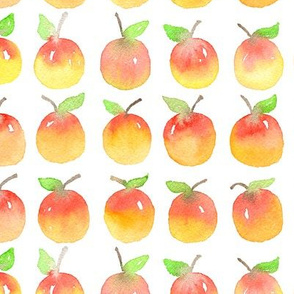 Watercolor apples