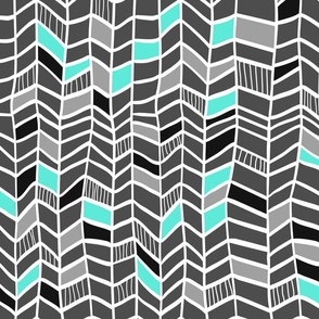 Multi Grey and Aqua Vertical Plumes