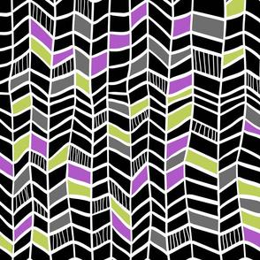 Multi Black and Purple Vertical Plumes