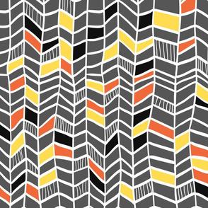Multi Orange and Grey Vertical Plumes