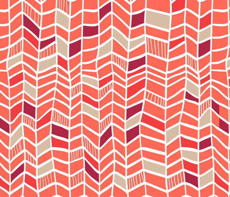 Multi Red Vertical Plumes fabric by dreammachineprints on Spoonflower - custom fabric