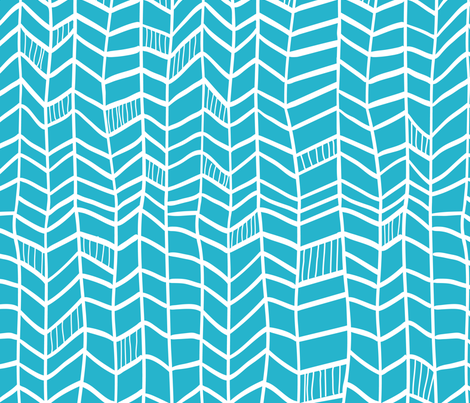 Solid Blue Vertical Plumes fabric by dreammachineprints on Spoonflower - custom fabric