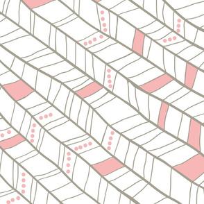Pink and Tan Diagonal Plumes