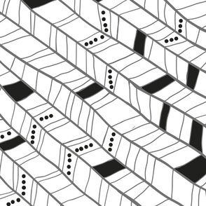 Black and White Diagonal Plumes