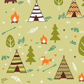 Green Campfire