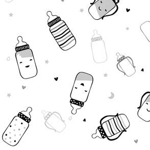Black Smiley Bottles