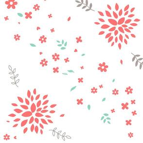 Red Flower Bursts
