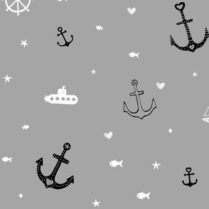 Grey Nautical