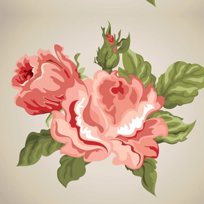 Floral quilt block pannel