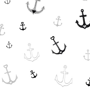Large Anchors on White