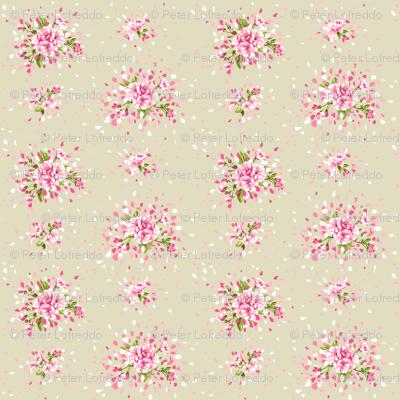 Tan Cherry Blossoms