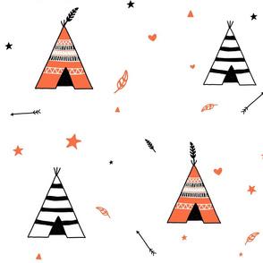 Black and Orange Teepees