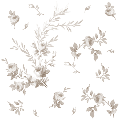 Theodora Floral Belgian linen fabric by lilyoake on Spoonflower - custom fabric