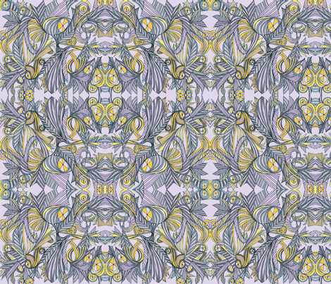 Steampunk IV-lavender fabric by unclemamma on Spoonflower - custom fabric