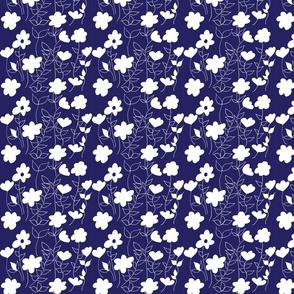 floral white blue