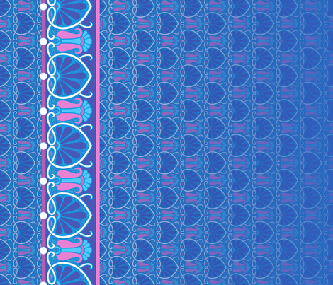Art Nouveau Abstract Border Blue Wallpaper Hannafate