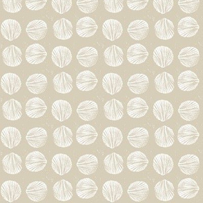 razor clam block print in sand