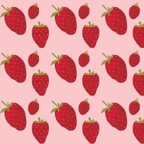 Pink sorbet strawberries