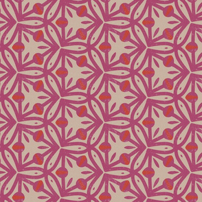 Pink Geometric Buds