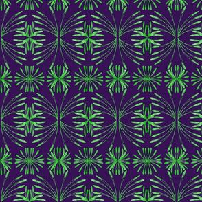 Lush Leafy Tropical on Aubergine