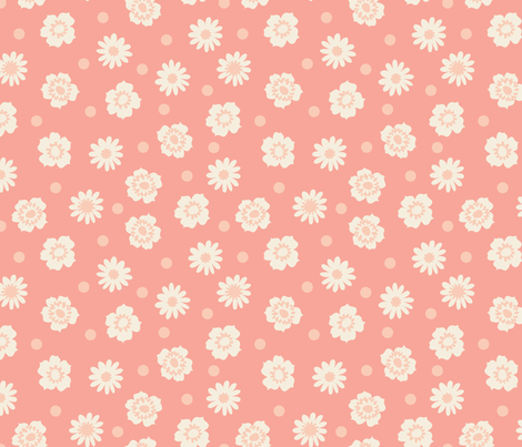 Pink Floral fabric by mariafaithgarcia on Spoonflower - custom fabric