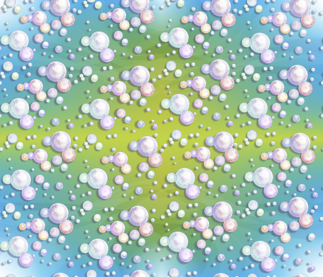 Bitty_Bubbles_BluGreen2 fabric by empress_creative on Spoonflower - custom fabric