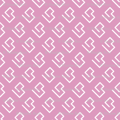 Geometric abstract maze scandinavian shape pink