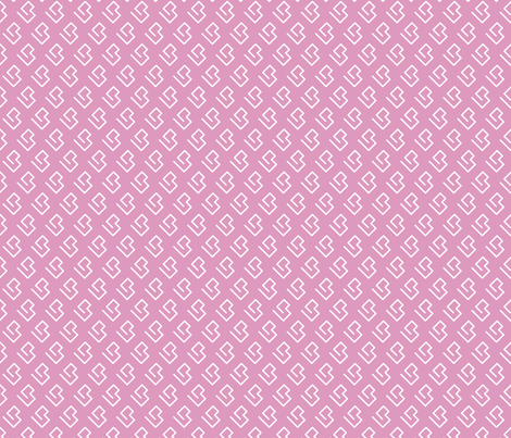 Geometric abstract maze scandinavian shape pink fabric by littlesmilemakers on Spoonflower - custom fabric